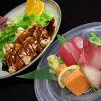 Sashimi & Chicken Teriyaki