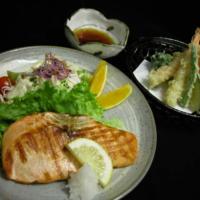 Tempura & Salmon Shioyaki
